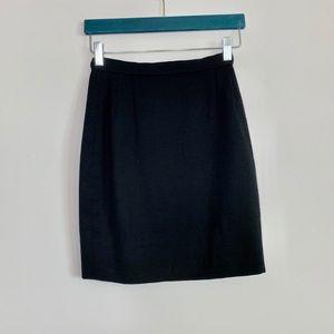 Giorgio Armani black tailored pencil mini skirt: 4